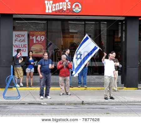 Israeli supporters at protest