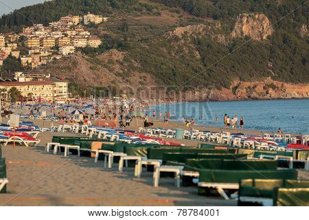 Alanya - Late afternoon on Cleopatra Beach.