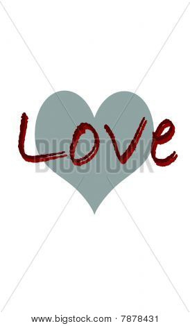 Love with heart symbol