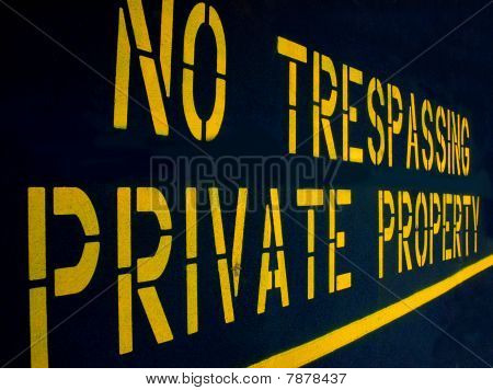 No Trespassing Private Property Darker