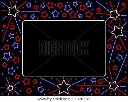 Neon patriotic sign