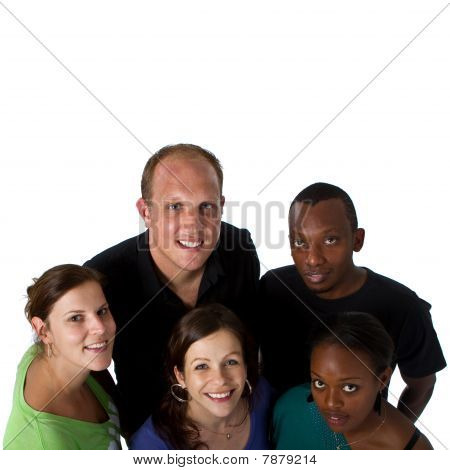 Young multiracial group