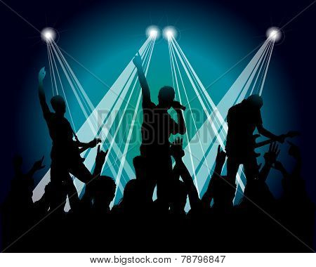 Grunge Musicians Silhouette