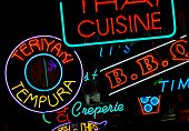 International Food Court Neon Signs