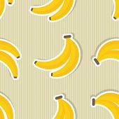 stock photo of banana  - Banana pattern - JPG