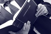 picture of lawyer  - lawyer holding criminal law book - JPG