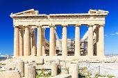 stock photo of parthenon  - Parthenon temple on the Acropolis of Athens - JPG