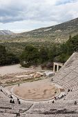 foto of epidavros  - The theater at Epidaurus Archeological Site in Greece - JPG