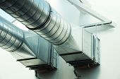 pic of air conditioning  - ventilation pipe of an air condition for fresh environment - JPG