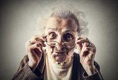 foto of grandma  - A cute grandma  - JPG