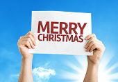stock photo of merry chrismas  - Merry Christmas card with a beautiful day - JPG
