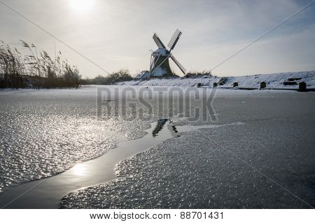 Old Wind Mill in the Winter