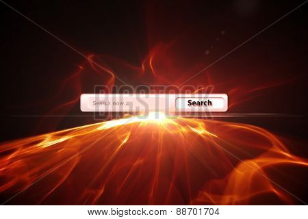 Search engine against glowing abstract design