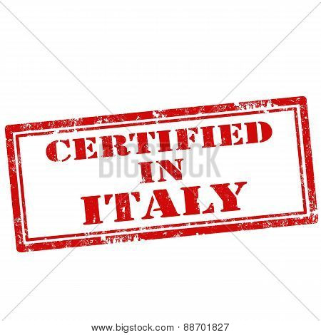Certified In Italy-stamp