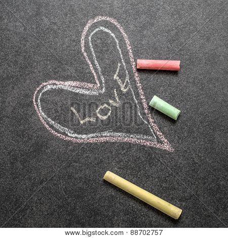 Love  Written On Chalkboard