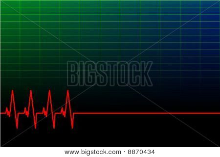 vector ECG background/business card