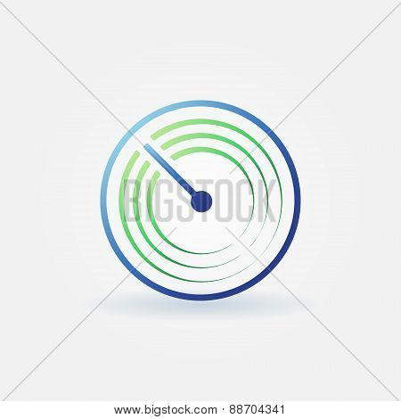 Radar vector bright icon