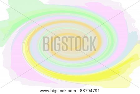 Multicoloured Swirl Spiral. Vector Colorful Abstract