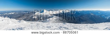 Winter, Panorama, Fir, Snow, Landscape, Mountain,