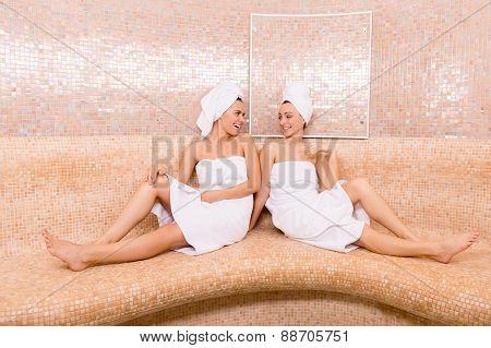 Girls In Sauna.