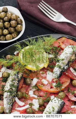 Tomato Salad With Fish