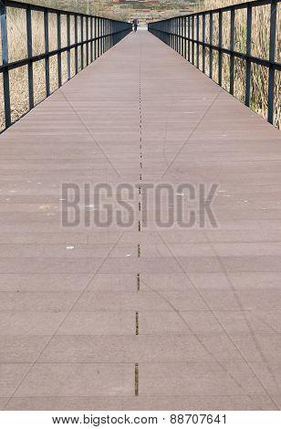 Perspective Of Bridge Walkway