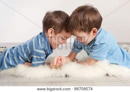 Arm Wrestling And Two Brothers