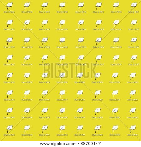 Class of 2016 White on Yellow Small Pattern