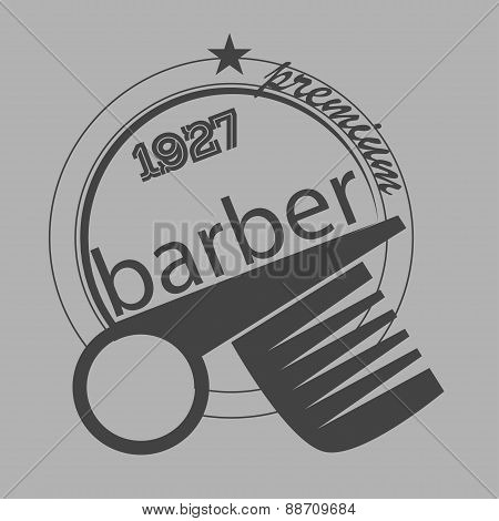 Vintage Barber Shop Logo, Labels, Badges And Design Element. Vector