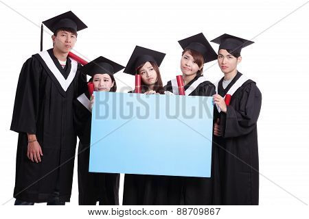 Group Of Graduates Student Think