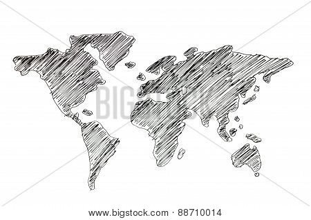Hand Drawing World Map