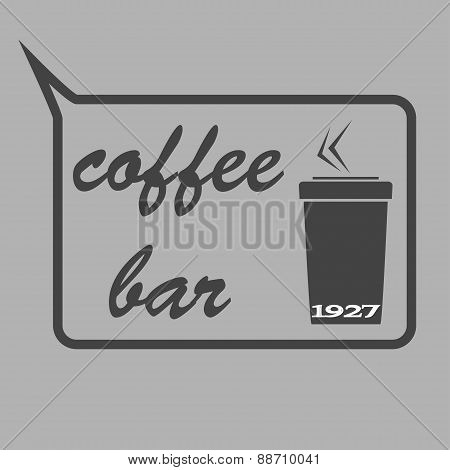 Vintage Coffee Themed Monochrome Labels. Vector