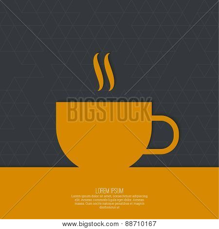 Abstract background with a cup