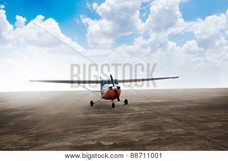 Propeller Airplane Parking At The Airport