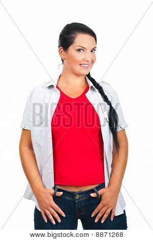 Attractive Woman In Casual Clothes