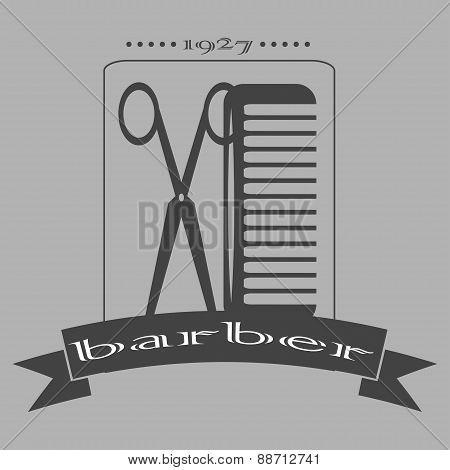 Vintage Barber Shop Logo, Labels, Badges And Design Element.