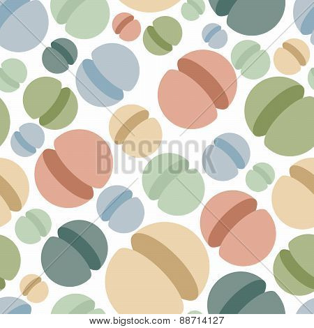 Sphere seamless pattern. Abstract geometric vector background. Hemisphere Space ornament