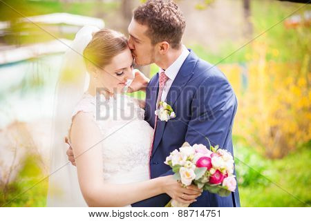Spring Wedding Groom Bride