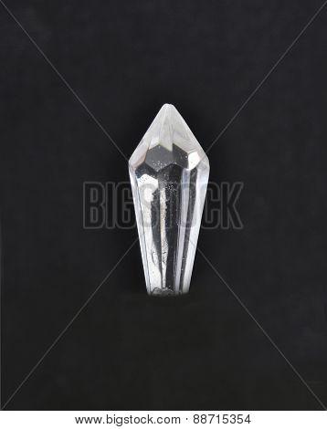 Glass Crystal On Black