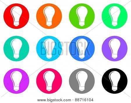 bulb vector icon set