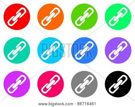 chain vector web icon set