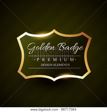 vector golden badge premium label design illustration