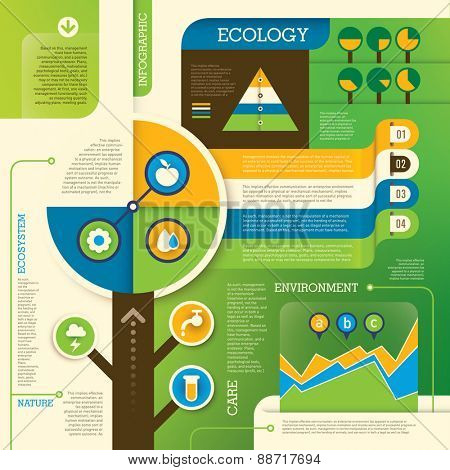 Ecology info graphic. Vector illustration.