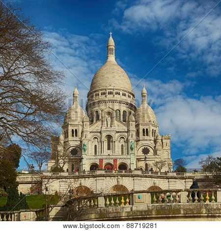 Sacre coeur basilica in Montmartre, Paris, France
