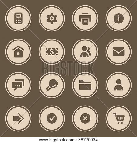 Basic web icons set