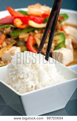 Thai Food with Jasmine Rice