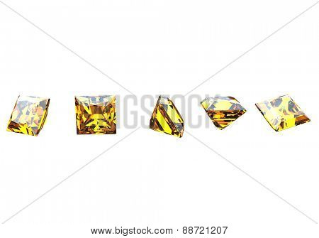 Gemstone. Collections of jewelry gems on white