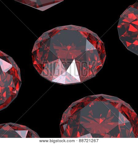 Gemstone. Collections of jewelry gems on black