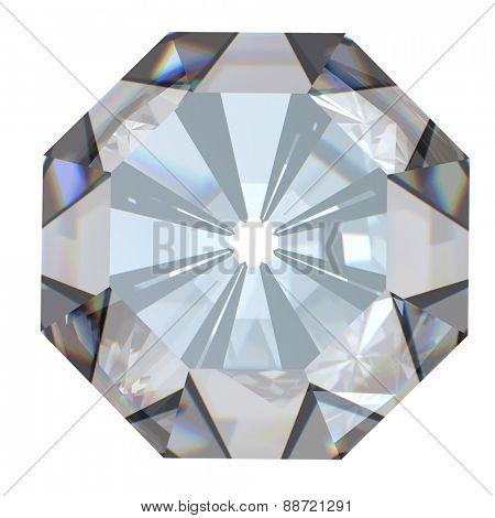 Diamond. Collections of jewelry gems on white