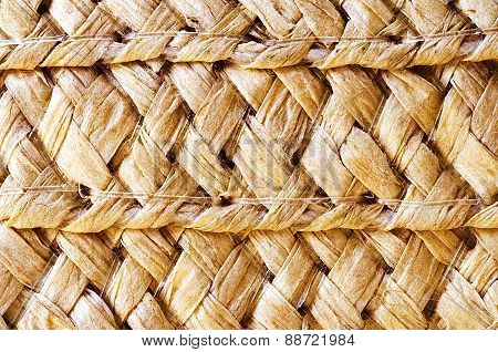 The Texture Of Straw Hat
